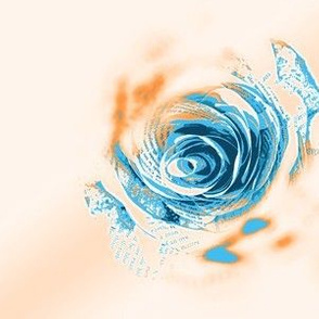 Blue Rose Crosshatch