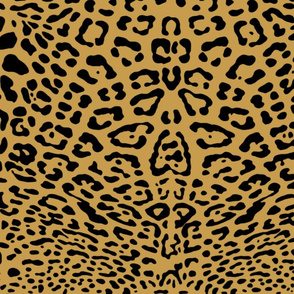 Ooh La La! Leopard ~ Black on Gilt