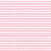 bunting white on pink mini 500