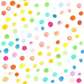 Rainbow watercolour dots