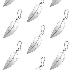 feather white grey