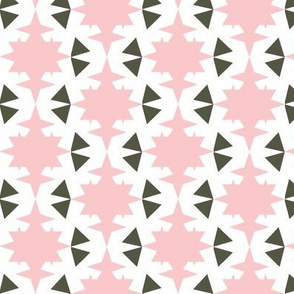star and triangles pink
