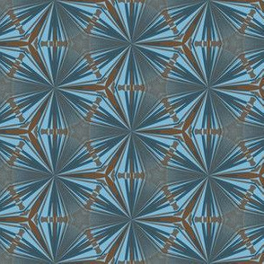 Op Art Blue and Brown Geometric
