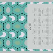 Chicken Coop Calendar Tea Towel
