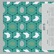 Chicken Coop 2015 Calendar Tea Towel