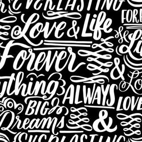 Love Forever Lettering