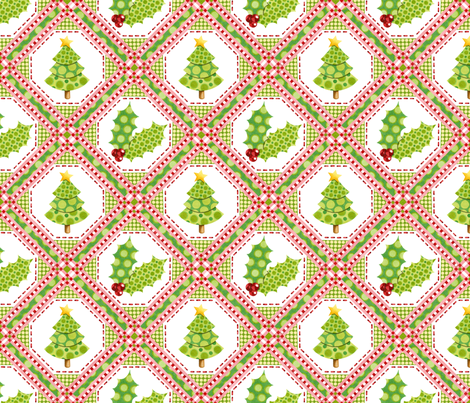 Christmas Polka Dots Lattice