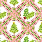 Christmas Polka Dot Lattice large