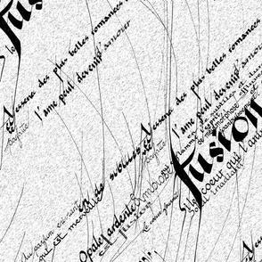 Calligraphy homework