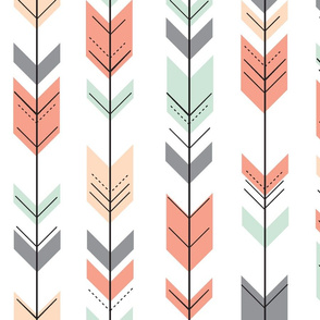 Fletching Arrows // Coral,Grey,Mint,Peach