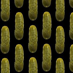 Pickles on black