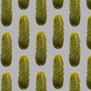 Pickles on grey