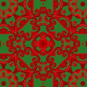 Udaipur Window in Christmas Tile Design