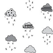 clouds grey stripes