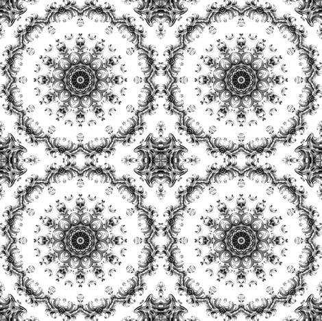 baroque flower kaleidoscope