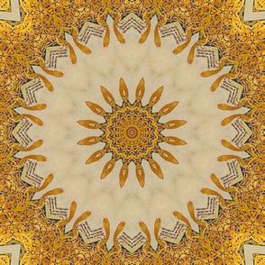 Gold and Blue Sunburst Illuminated Manuscript