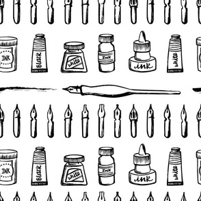 Calligraphy tools - Nibs, Ink, Pens