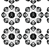 Black and White Stylized Bettle