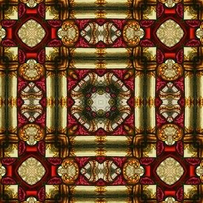 Decorative Stained Glass Square Tile