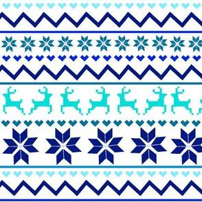 Blue Fair Isle