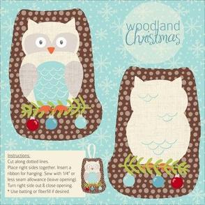 Woodland Christmas Owl
