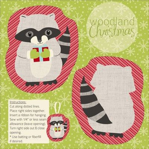 Woodland Christmas Raccoon