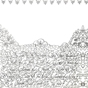 Wedding Vows Calligraphy Lace