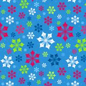 Merry Snowflakes Blue