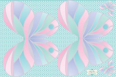 Pastel fat quarter fairy wings