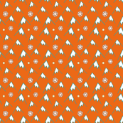 Christmas Mountains. Snowflakes. Star.