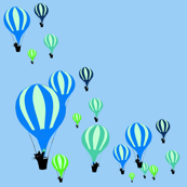 kittens in hot air balloons