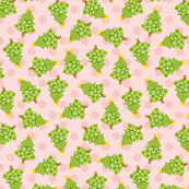 Christmas Tree Pink Polka Dots