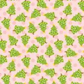 Christmas Tree Pink Polka Dots