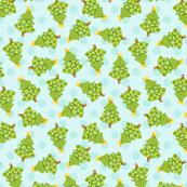 Christmas Tree Blue Polka Dot
