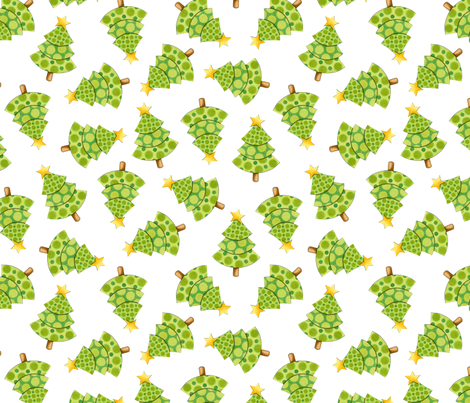 Polka Dot Christmas Trees