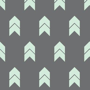 mint and grey chevron small