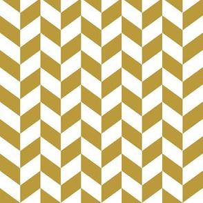 Mustard Herringbone // Wild Lake