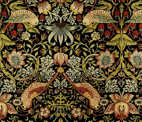 William Morris ~ Strawberry Thief ~ Intense ~ Mirrored