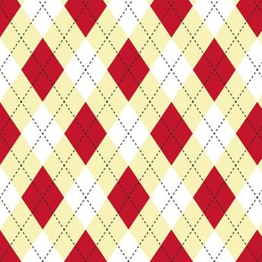 Argyle  Red & Yellow