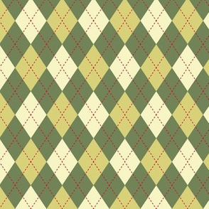 Argyle Green Yellow