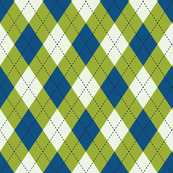 Argyle in Blue & Green