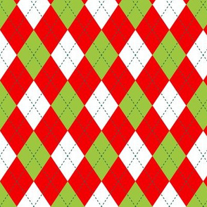 Argyle in Red & Green