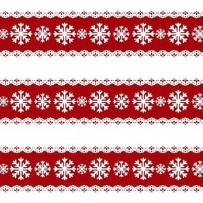 Candy Striped Snow Flakes
