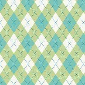 Argyle Blue & Green