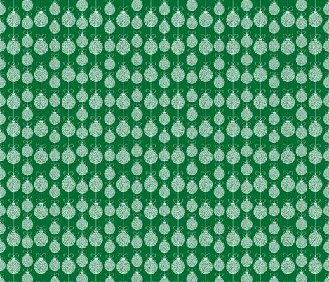 Green Holiday Ornaments