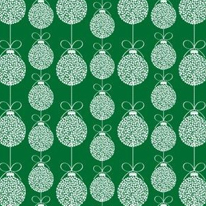Green Holiday Ornaments