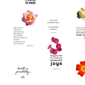 Multiple Quotes Colorful Floral Pattern