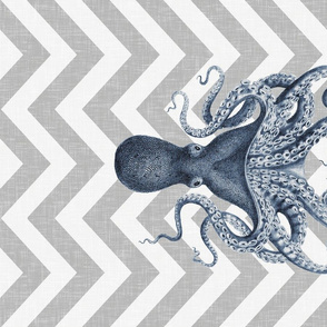 Ink Octopus Oasis Tea Towel