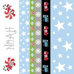 Holiday Star - Vertical trucks & trains-personalized
