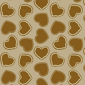 Happy Christmas Heart Cookie